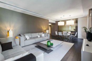 客厅白色茶几现代简约风格装潢设计图片