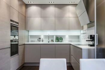 厨房米色背景墙现代简约风格效果图