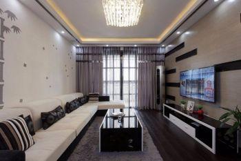 华地润园90平米现代简约风格彩色三居室装修效果图