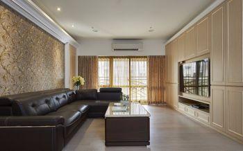 100平米黄色现代U乐国际三居室简单人家u乐娱乐平台图片