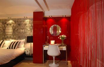 120平米谊诚公寓现代简约风格三居室彩色装修图片
