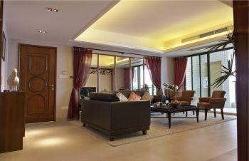 120平米黄色天骄公寓现代风格四室两厅装修图片