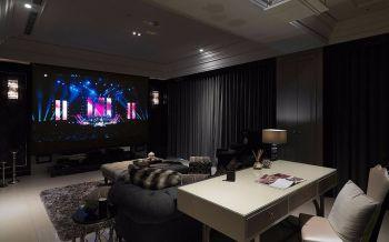 客厅灰色窗帘古典风格装饰效果图