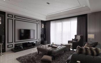 客厅灰色背景墙古典风格效果图