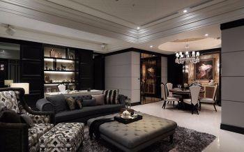 客厅灰色沙发古典风格装修效果图