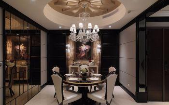 餐厅白色吊顶古典风格装修图片