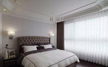 卧室白色窗帘古典风格装潢效果图