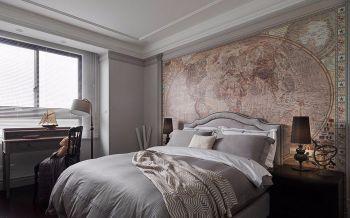 卧室白色背景墙古典风格装潢图片