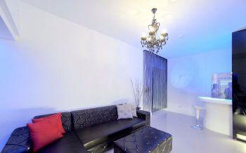 客厅白色吧台简单风格装饰设计图片