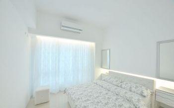 卧室白色背景墙简单风格效果图