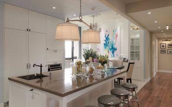 客厅咖啡色吧台美式风格装饰效果图