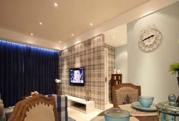 美式简单风格两居室装修效果图