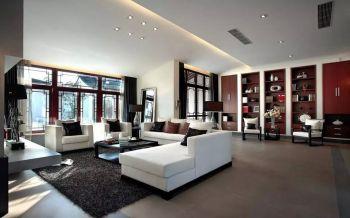 现代中式风格庭院别墅装修效果图