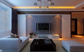 90平米现代简约风格两居室装修效果图
