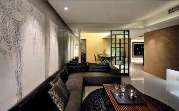 玺岳现代中式风格四居室装修效果图