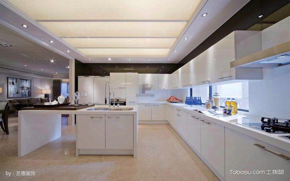 厨房白色吊顶现代风格装饰效果图