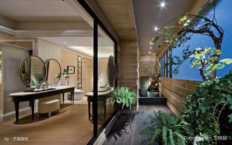 金湾华庭高端定制现代风格三居室样板房效果图