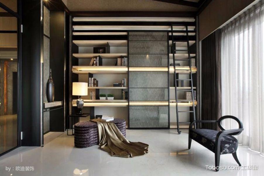 书房白色窗帘古典风格装饰设计图片