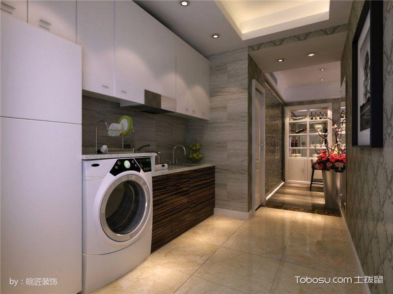 厨房走廊现代简约风格装修设计图片