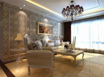 三室两厅一卫简欧风格装修效果图