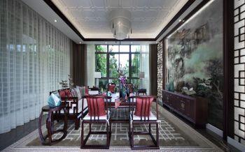 新中式风格庭院家居装修效果图案例