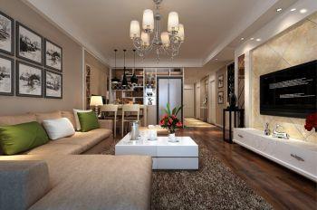 顶峰国际公寓130平方现代简约装修效果图
