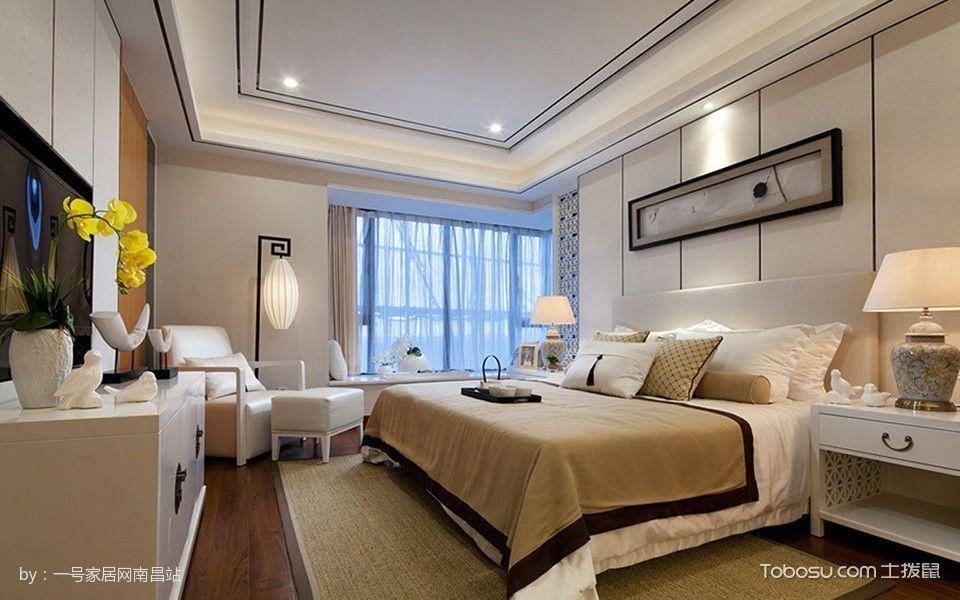 卧室白色吊顶混搭风格装修图片