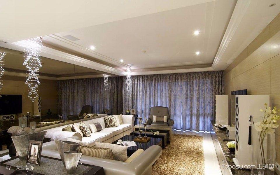 现代古典风混搭式大户型家居样板设计
