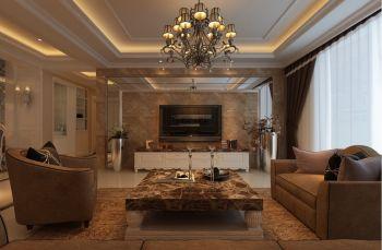 龙门豪庭110平方简欧风格豪华装修案例图