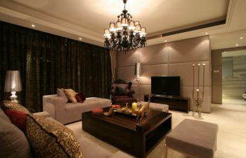 桂荷园现代古典风格两居室舒适装修效果图
