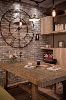 92平美式乡村两居室装修效果图案例