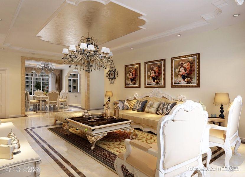 10万打造永泰城103平二居室简欧之美