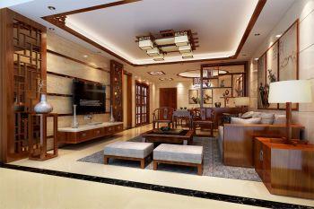 中式风格套房家居装修设计效果图案例