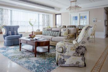 现代美式风格四居室装修图片案例