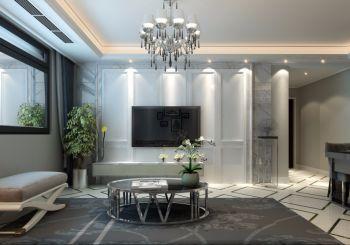 琥珀新天地现代简约风格三居室装修设计图