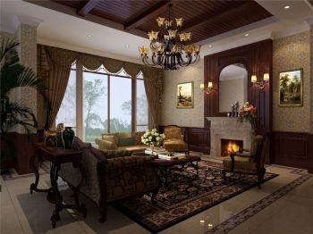龙湖原山美式风格别墅装饰效果图