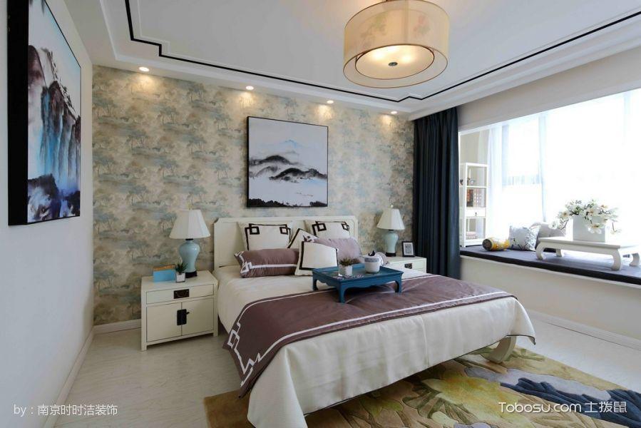 卧室白色榻榻米新中式风格装饰效果图