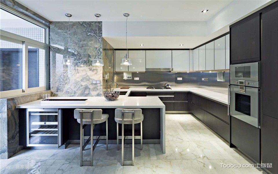 2020現代簡約廚房裝修圖 2020現代簡約吧臺裝飾設計
