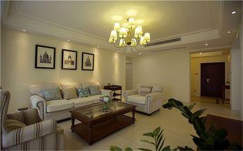 美式风格家庭三居装修效果图案例