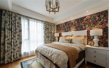 万国城现代美式小清新三居室装修精品案例图