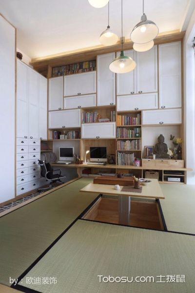 书房榻榻米日式风格装修设计图片