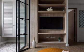 简约木质风格小户型设计案例图