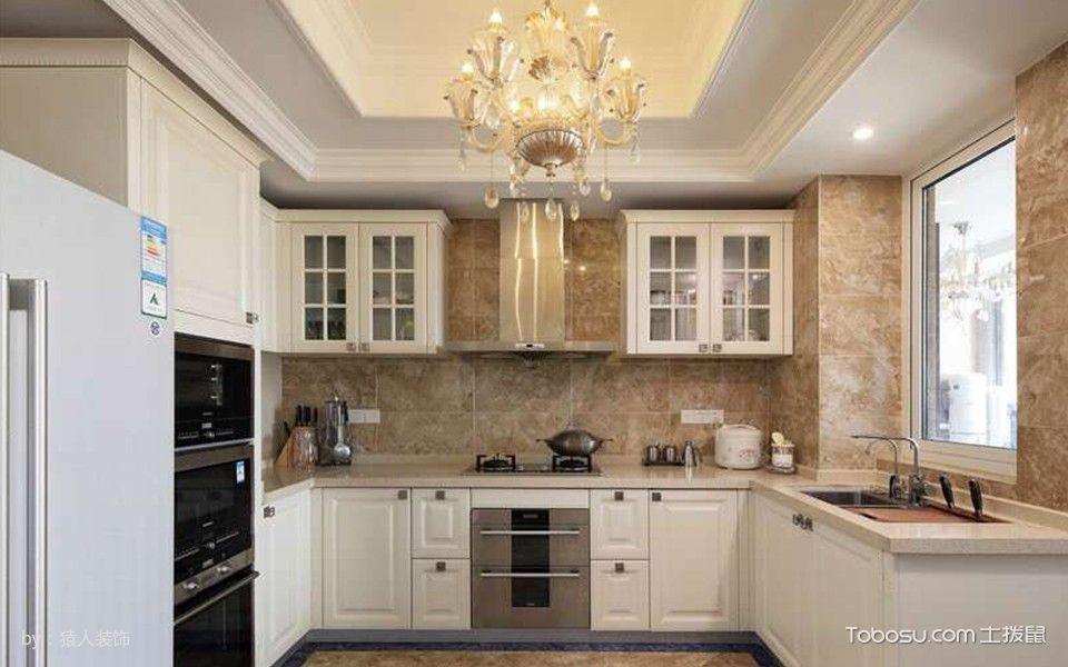厨房白色吊顶现代简约风格装潢设计图片