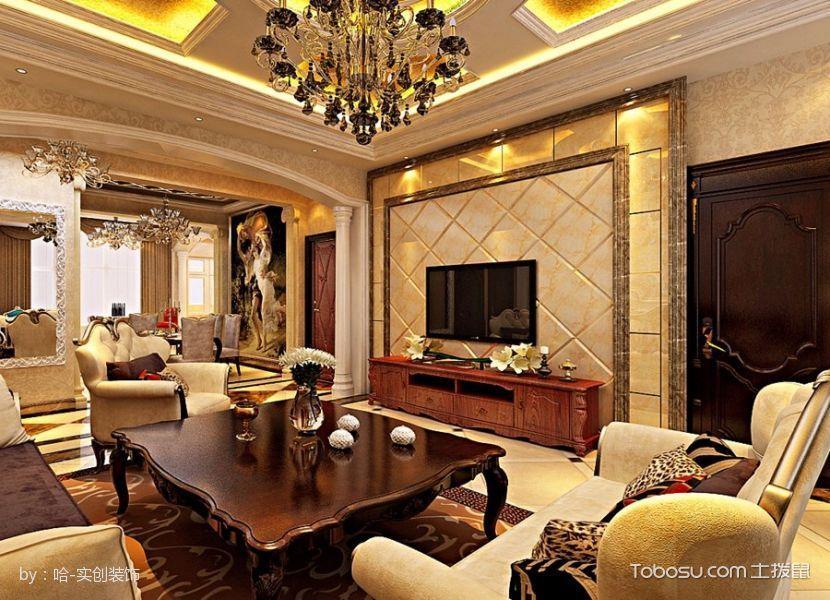 群力星光耀168平奢华现代欧式三居装修设计图