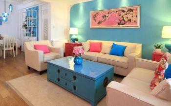 混搭中式风格两居室装修设计