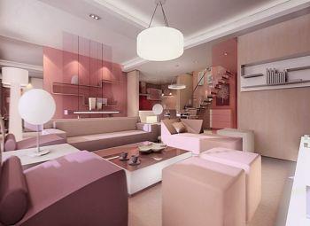 天津华侨城现代风格复式设计图