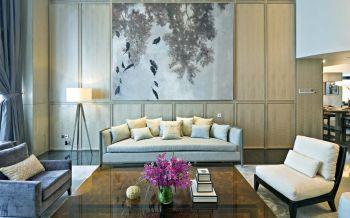 混搭风格挑空设计三居室装修
