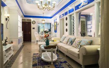 地中海風格客廳裝飾設計圖片