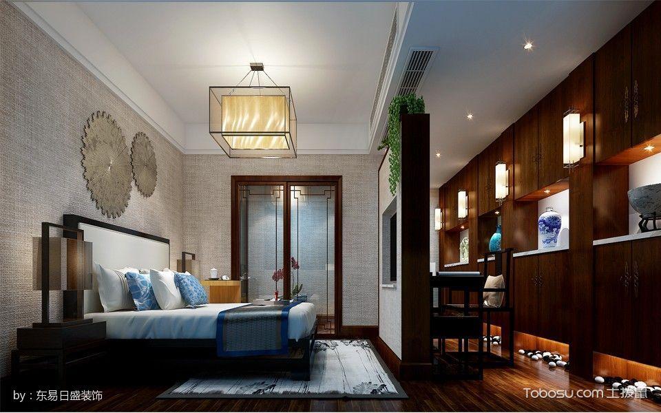 卧室隔断新中式风格装潢效果图