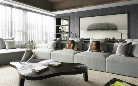 三居室户型简约风格样板图